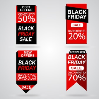 Kolekcja znaczników sprzedaży w czarny piątek