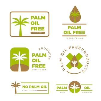 Kolekcja znak oleju palmowego