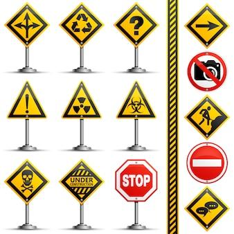 Kolekcja znaków drogowych