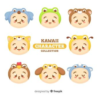 Kolekcja znaków kawaii