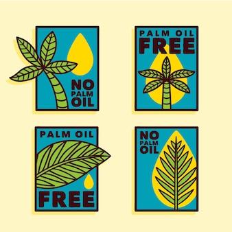 Kolekcja znaków oleju palmowego