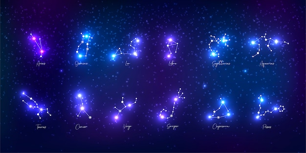 Kolekcja znaków zodiaku