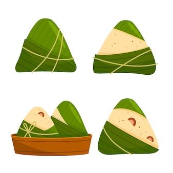 Kolekcja zongzi flat dragon boat