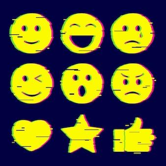Kolekcje emoji glitch