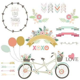 Kolekcje floral love vintage bicycles