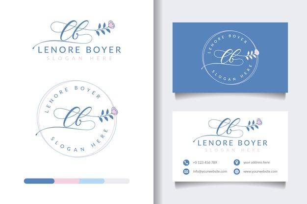 Kolekcje kobiecych logo piękna z szablonem wizytówki