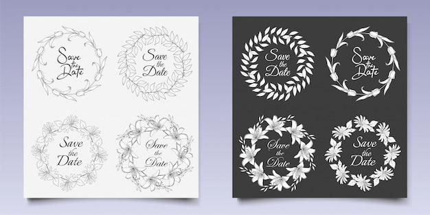 Kolekcje kwiatowych monogramów ślubnych