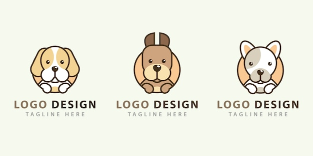 Kolekcje projektów logo psa
