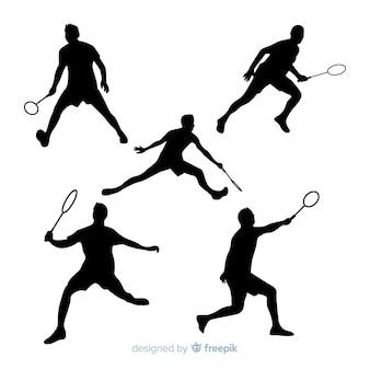 Kolekcjonerka sylwetka badmintona