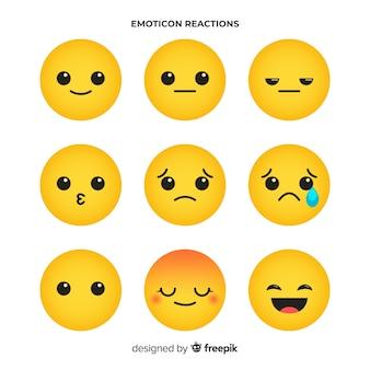 Kolekcjonowanie reakcji płaskich emotikon