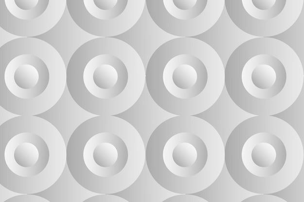 Koło 3d geometryczny wzór wektor szare tło w prostym stylu