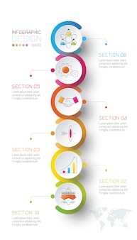Koło biznesu etykiety kształt infografika.