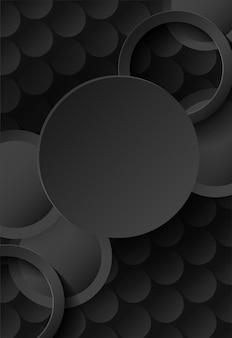 Koło czarne tło nakładają się