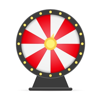 Koło fortuny lucky roulette na białym tle