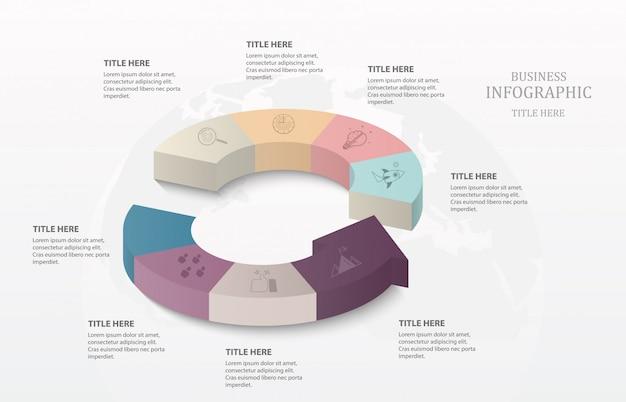 Koło infografiki 3d