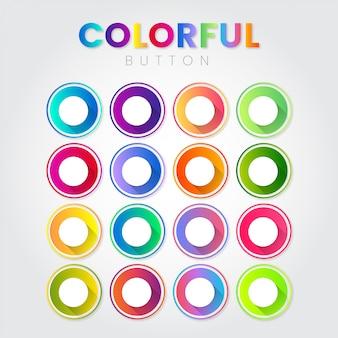 Koło kreatywnych streszczenie kolorowe przyciski