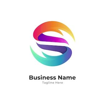 Koło logo kolorowe litery s.