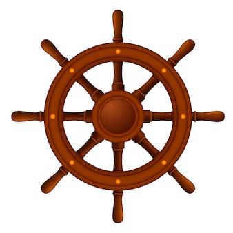 Koło okrętowe morskie drewniane
