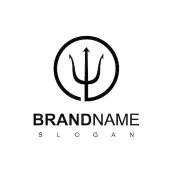 Koło trident logo design inspiracja