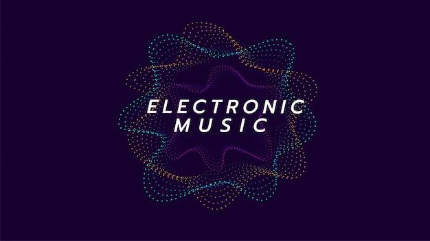 Koło wave muzyki elektronicznej. ilustracja o linii cyfrowej