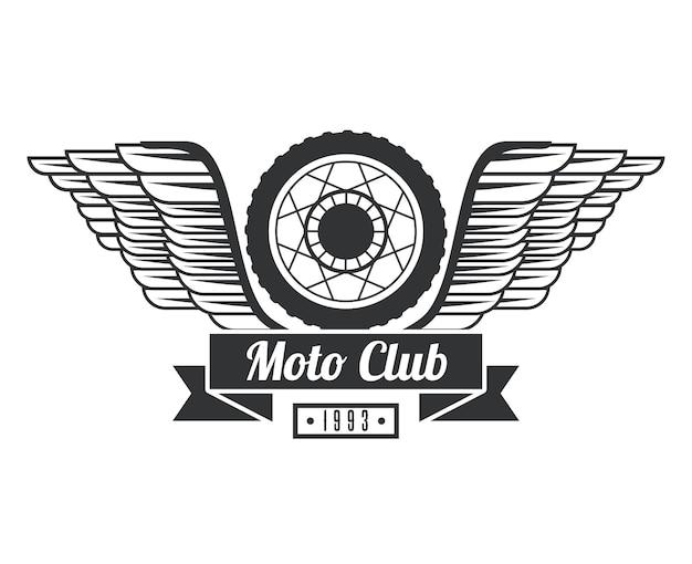 Koło z logo skrzydła