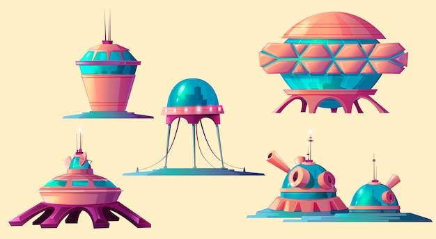Kolonizacja przestrzeni kosmicznej, zestaw kosmicznych elementów bazowych.
