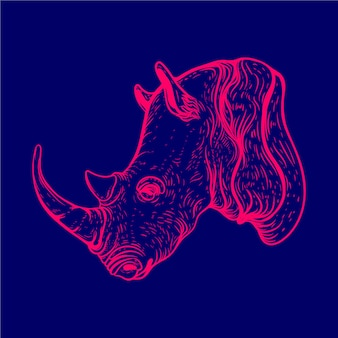 Kolor blasku głowy nosorożca!