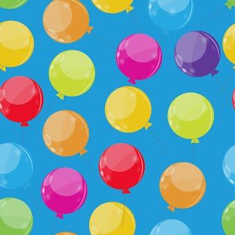 Kolor błyszczący balony seamles wzór tła ilustracja wektorowa eps10