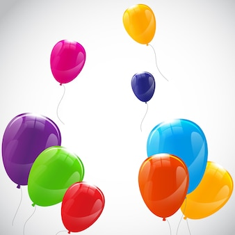 Kolor błyszczący balony tło ilustracja wektorowa