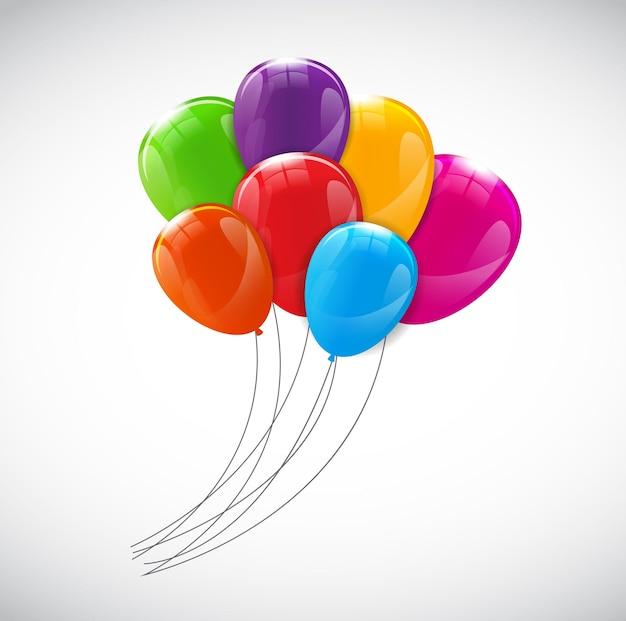 Kolor błyszczący balony tło wektor ilustracja eps10