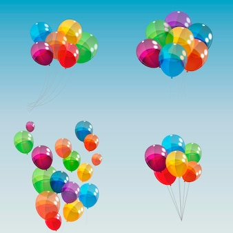Kolor błyszczący balony tło wektor ilustracja