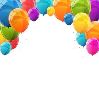 Kolor błyszczący balony tło