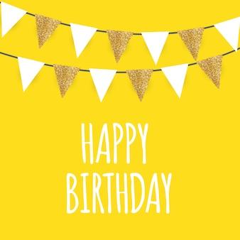 Kolor błyszczący szczęśliwy urodziny balony transparent tło