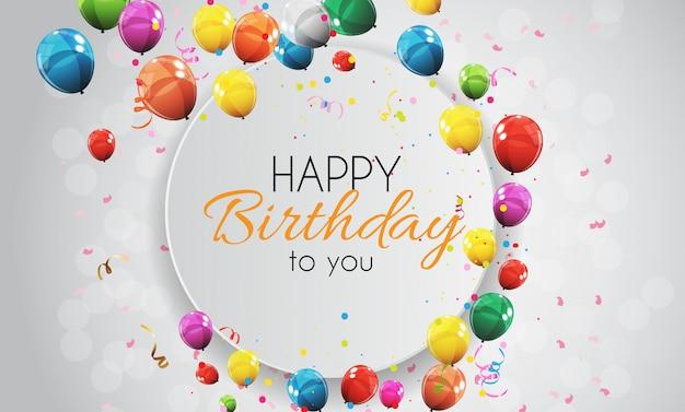 Kolor błyszczący szczęśliwy urodziny balony transparent
