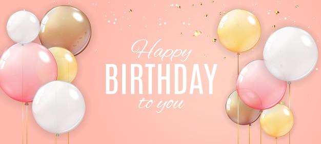 Kolor błyszczący transparent szczęśliwy urodziny balony