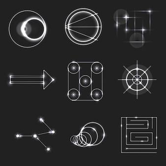 Kolor dodge światła symbole ilustracji wektorowych
