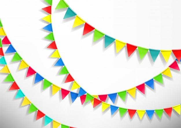Kolor flaga sznurki na białym tle