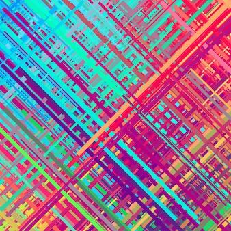 Kolor glitch efekt zniekształcenia tła abstrakcyjna tekstura losowe linie ukośne