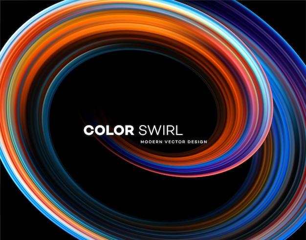 Kolor jasny wirować kształt
