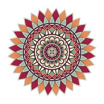 Kolor kwiatowy mandali, ilustracji wektorowych