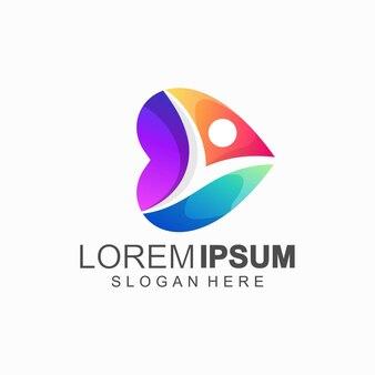 Kolor logo osoby