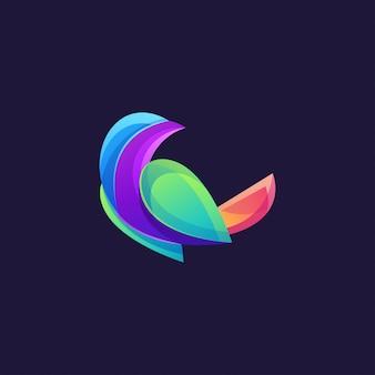 Kolor logo ptaka nowoczesny