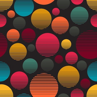 Kolor okręgu wzór gradacji