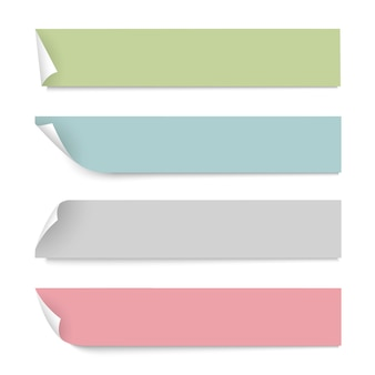 Kolor papieru banery z cieniami