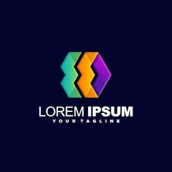 Kolor pełny streszczenie logo wektor