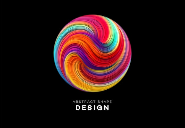 Kolor przepływu abstrakcyjny kształt tła