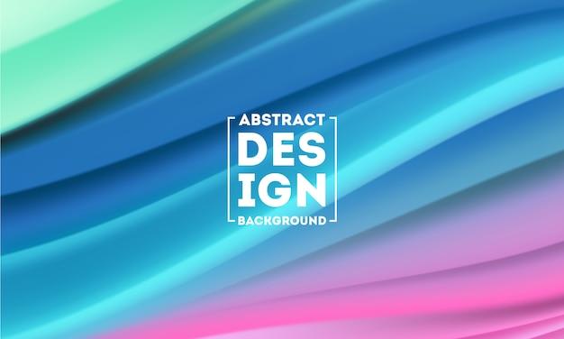 Kolor przepływu plakat abstrakcyjny kształt projektu szablon, wektor dynamiczny kolor przepływu