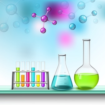 Kolor skład tubki i molekuł