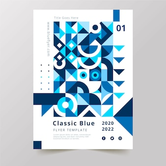 Kolor szablonu plakatu roku 2020