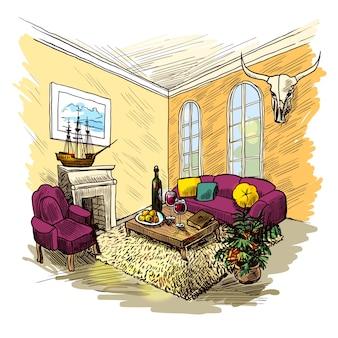 Kolor szkicu pomieszczenia